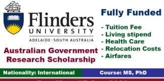 Australian Government Research Scholarship 2020 (Fully Funded)