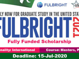 Fulbright Scholarship in USA 2021 for International Students (Fully Funded)