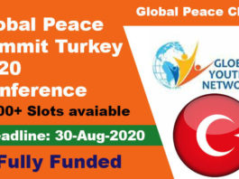 Global Peace Summit Turkey 2020 Conference (Fully Funded)