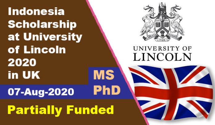 Indonesia Scholarship at University of Lincoln 2020 in UK