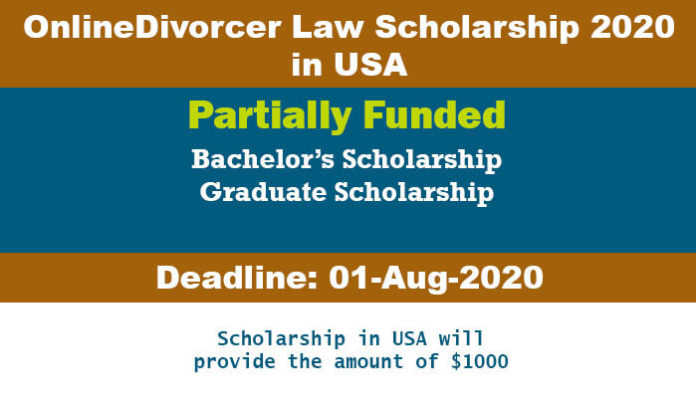 OnlineDivorcer Law Scholarship 2020 in USA