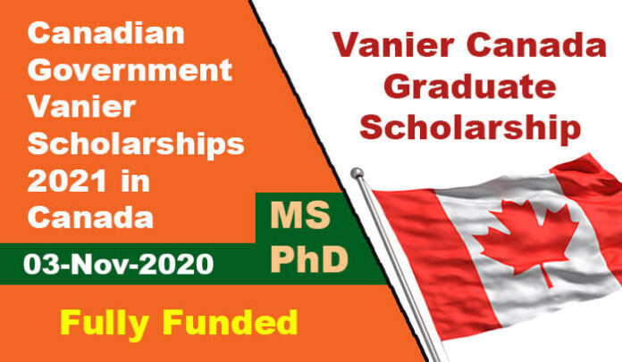 Canadian Government Vanier Scholarships 2021 in Canada ...