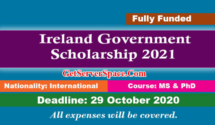 Ireland Government Scholarship 2021 For Graduate & Postgraduate [Fully Funded]