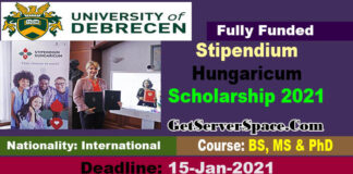 Stipendium Hungaricum Scholarship 2021 For International Students [Fully Funded]