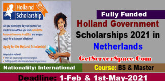Holland Government Scholarships 2021 For Undergraduate & Masters [Fully Funded]