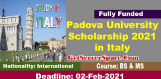 Padova University Scholarship 2021 in Italy For BS & MS [Fully Funded]