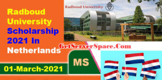 Radboud University Scholarship 2021 In Netherlands For Masters [Fully Funded]