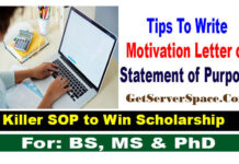Tips Write Motivation Letter or Statement of Purpose For Scholarships