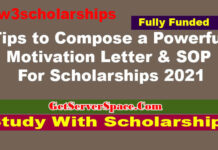Tips to Compose a Powerful Motivation Letter & SOP For Scholarships 2021