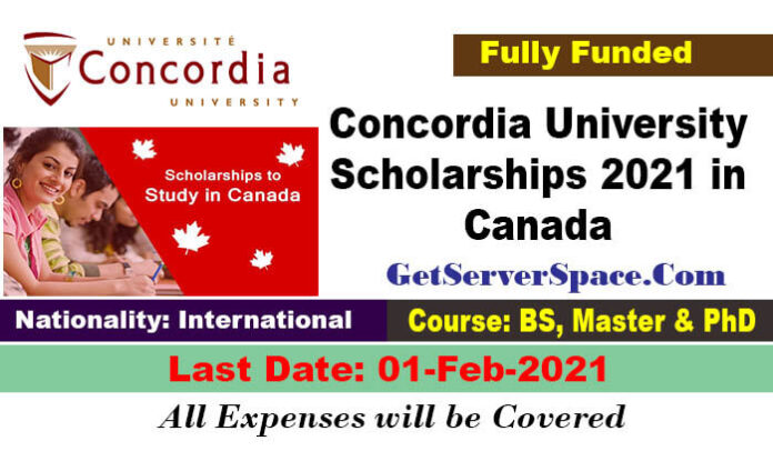 Concordia University Scholarships 2021 in Canada For BS,MS & PhD[Fully Funded]
