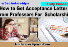 How to Get Acceptance Letter From Professors For Fully Funded Scholarships