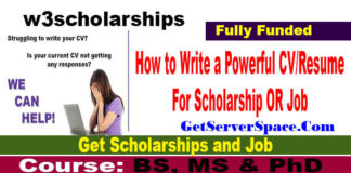 How to Write a Powerful CV or Resume For Scholarship OR Job 2021
