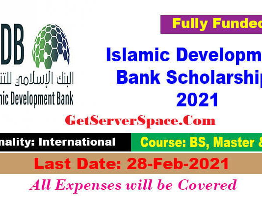 Islamic Development Bank Scholarships 2021 For Foreigner's [Fully Funded]