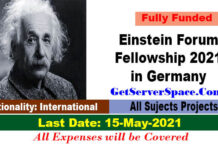 Einstein Forum Fellowship 2021 in Germany For Foreigner [Fully Funded]