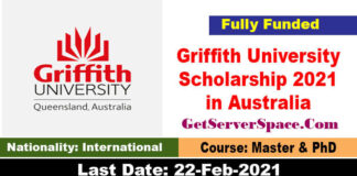 Griffith University Postgraduate Research Scholarship 2021 in Australia [Fully Funded]