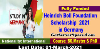 Heinrich Boll Foundation Scholarship 2021 in Germany [Fully Funded]