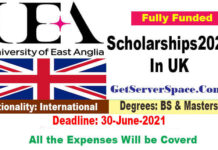 University of East Anglia Scholarships 2021 In UK For BS & MS