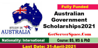 Australian Government Scholarships 2021 For International Students [Fully Funded]