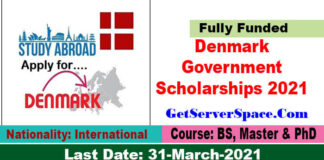 Denmark Government Scholarships 2021-22 For Foreigners [ Fully Funded]