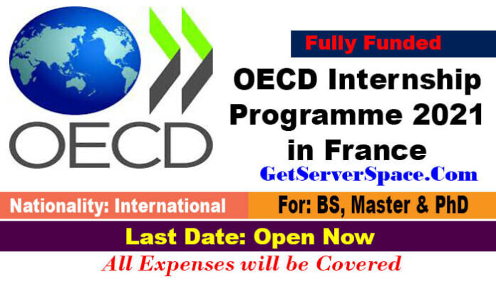 OECD Internship Programme 2021 in France[Fully Funded]