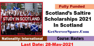 Scotland's Saltire Scholarships 2021 In Scotland [Funded Funded]