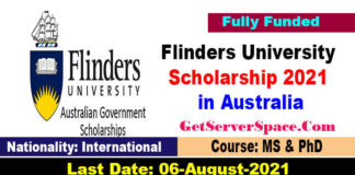 Flinders University Research Scholarship 2021 in Australia [Fully Funded]