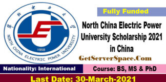 North China Electric Power University Scholarship 2021 in China [Funded]