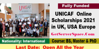 UNICAF Online Scholarships 2021 For International Students[Fully Funded]