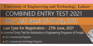 UET Lahore Fall Admissions 2021 in All Campuses