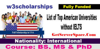 List of Top American Universities without IELTS For International Students