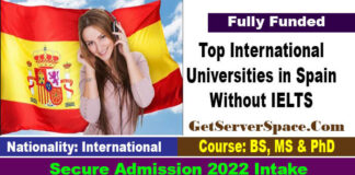 List of Top International Universities in Spain Without IELTS