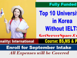 Top 10 Universities in Korea Without IELTS For International Students