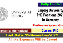 Leipzig University PhD Positions 2021 in Germany Fully Funded