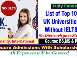 List of Top 10 UK Universities Without IELTS For Study Abroad