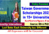 Taiwan Government Scholarships 2022 in 15+ Universities [Fully Funded]
