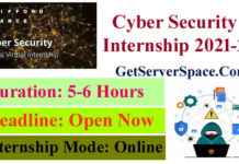 Cyber Security Online Internship with Certificate 2021-22