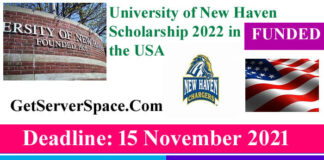 University of New Haven Scholarship in the USA 2022